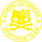 Hello Kitty Zombie Outbreak Response Team Window Decal 5 - Various Colors