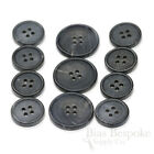 Sets Of Dignified Gray-blue Buffalo Horn Jacket Buttons Matte Finish