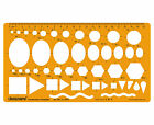 Combination Drafting And Design Template Stencil Symbols Technical Drawing Scale