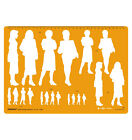 Human Figure Drafting Design Template Stencil- Male And Female Options Available