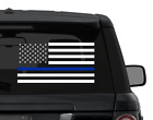 Thin Blue Line Us Flag Police Decal Sticker Choose Main Color Outdoor Vinyl