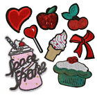 8pcs Sequin Embroidery Patches Lot Applique Heart Bow Ice Cream Cake Patch