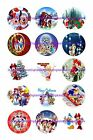 Disney Christmas 1 Circles Bottle Cap Images. 2.45-5.50 Free Shipping
