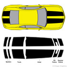 Chevy Camaro Bumblebee Style Rally Racing Stripes 3m Stripe Vinyl Decals Rs Ss