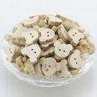 Mixed Handmade Round Shape Pattern 2 Holes Wood Buttons Sewing Scrapbooking Lots