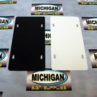 .050 Plastic License Plate Blanks-available In Black White Or Combo Packs