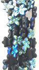 Choose Color Czech Glass Two-hole Flower Beads 12 Bead Strand