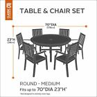 Belltown Outdoor Patio Table Set Cover Round Weather And Water Resistant Patio