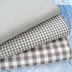 Kent 2 Vintage Gingham Fabric Vintage Brown - Cotton Rich Sewing Dress Fabric