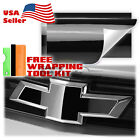 Gloss Vinyl Wrap For Chevy Bowtie Emblem Overlay Sticker Decal Sheet Film Diy