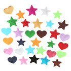10pcs Sequins Heart Patch Applique Embroidered Star Patches Sew On Badge Diy