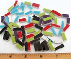 Very Small Rectangle Broken China Mosaic Tiles 13 Color Variations