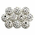 100pcslot Mixed Micro Pave Disco Crystal Shamballa Beads Bracelet Spacer 10mm