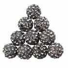 100pcslot Mixed Micro-pave Disco Crystal Shamballa Beads Bracelet Spacer 10mm
