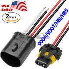 2pcs Hid Xenon Ballast Extension Cable Cord Harness Connector Wires 16 Inches