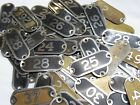You Pick 1-49 Brass Number Seating Locker Basket Drawer Tags Plate Type 9 9a