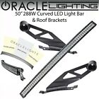 Oracle Off Road 50 Curved Led Light Bar Roof Brackets For 07-18 Toyota Tundra