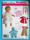 Simplicity Sewing Pattern Baby Doll Clothes Wardrobe Accessories You Pick