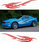 Vinyl Graphics Decal Flame Side Lines Stripes Car Truck Rv Trailer Boat Stickers