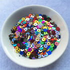4000pcs 4mm Round Loose Sequins Paillettes Diy Clothes Sewing Craft Plastic Home