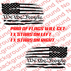 Distressed American Usa Flag Vinyl Window Decal Sticker For Jeep Wrangler Us020