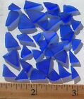 Very Small Sea Glass 14 Tumbled Triangle Mosaic Tiles Amber Brown Blue White