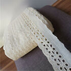 2yards Cream 100 Cotton Embroidery Crochet Lace Trims Ribbon Sewing Craft