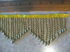 Metallic Bead Fringe By The Yd Zig Zag 1 14 By 2.5 Gold