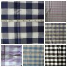 Fabric Large Gingham Blue Dark Blue Purple Pink Dk Brown Sold Bhy And Bty