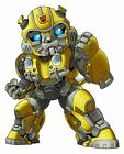 Transformers Bumblebee Chibi 2-6 Vinyl Decal Stickers