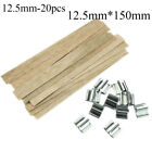 Party Square Stand Alloy Candlestick Sustainer Tabs Wax Candle Core Wooden Wick