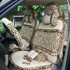 Leopard Print Lace Car Seat Covers Universal Winter Covers Interior Accessories