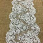 Bridal Lace Trim Alencon 7 Embroidered Corded Sequined Mesh Ground Beautiful