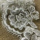 Bridal Lace Trim Alencon Embroidered Corded Mesh Net Beautiful Quality 3 Wide
