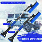 360ice Scraper With Brush For Car Windshield Snow Remove Frost Adjustable Broom