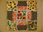 Choice Of Sunflowers Rag Quilt Square Candle Mat Centerpieces Country Farmhouse