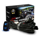 Driving Led Work Light Wiring Harnes Kit With Backlit Rocker Switch Car Boat