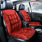 2pcs Plush Car Seat Cover Front Auto Chair Cushion Covers Protector Warm Winter
