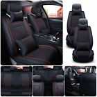 11pcs Car Seat Cover Full Set Cushion Universal Pu Leather Protector 5-seats Suv