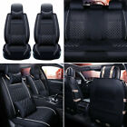 Luxury Pu Leather Car Seat Covers Universal Full Set Interior Frontrear 5-sits