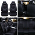 Universal Full Set Pu Leather Car Seat Cover Interior 5-seats Suv Protectors Us
