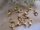 Lobster Clasps Gold Silver Bronze Rose Gunmetal Copper White K Plated 10 - 18mm