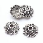50-200 Tibet Silver Plated Flower Spacer Bead Caps Jewelry Making Diy 8x310x3mm