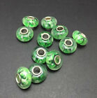 Murano Lampwork Glass Spacer Loose Beads Fit European Charms Bracelet 3pcs