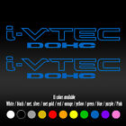 9 Ivtec Dohc Vtec Window Car Honda Si Type Accord Civic Fit Vinyl Decal Sticker