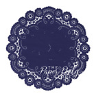 Navy Blue French Lace Paper Doilies 6 8 10 Blue Doily Navy Paper Doily