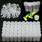 50100x Plastic Sample Bottle Test Tube Small Bottles Pill Storage Containers D