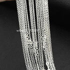 Wholesale Lots 1.6mm O Circle Rolo Chain 925 Sterling Silver Plated Necklace