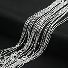 Wholesale Lots 1.4mm 925 Sterling Silver Plated Bar Bead Link Chain Necklace