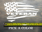 Veteran Flag Sticker Decal American Us Distressed Usa Military Tactical Xo